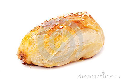 Homemade pasty with sesame