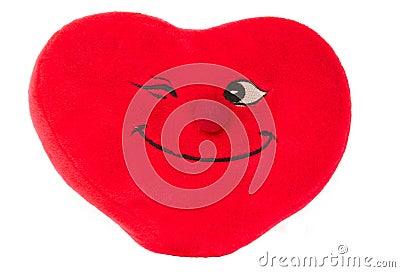 Homemade pillow heart