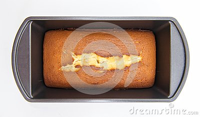 Homemade Pound Cake in Pan