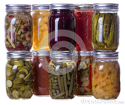 Homemade preserves and pickles