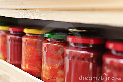 Homemade preserving bottles