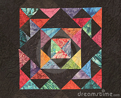 Homemade Quilt with Bright colors