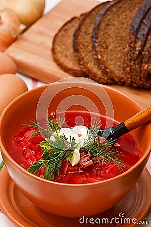 Free Homemade Red Borsch Royalty Free Stock Photos - 13822688