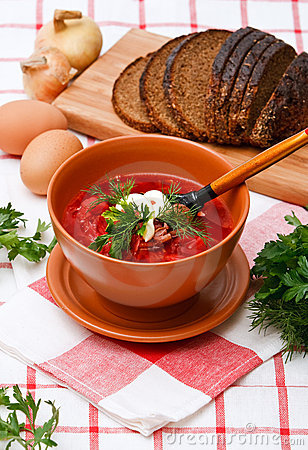 Free Homemade Red Borsch Royalty Free Stock Image - 13822726