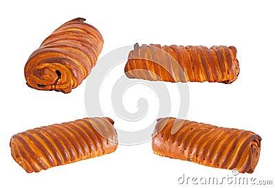 Homemade rolls buns with jam