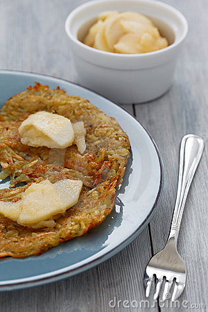 Homemade Rosti and Apple Compote