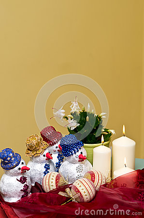 Homemade snowmen decorations