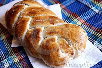 Homemade yeast braided bread