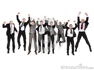 Homens de negócios de salto