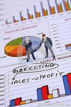 Homens de negócios e mercado