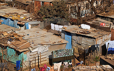 Homes of the poor.