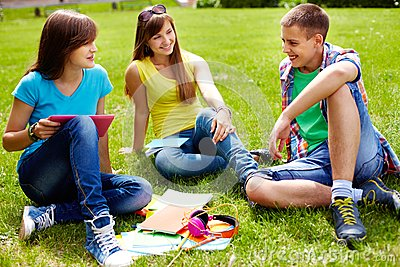 Homework outdoors