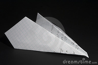Homework paper airplane