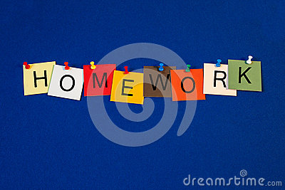 Homework - sign series for education terms.