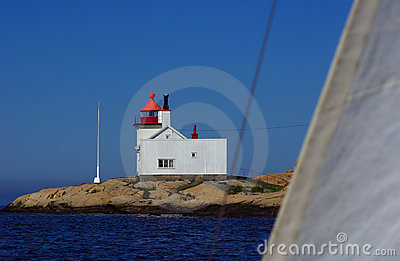 Homlungen Lighthouse in Norway
