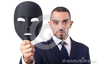 Homme avec le masque