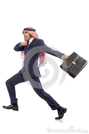 Homme d affaires arabe