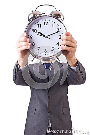Homme d affaires avec l horloge