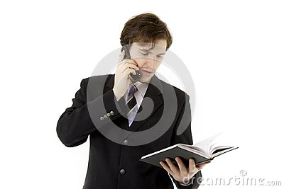 Homme d affaires avec le téléphone et quotidien
