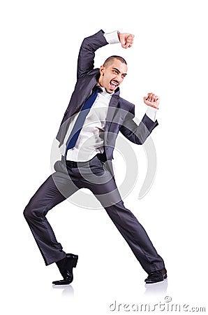 Homme d affaires de danse