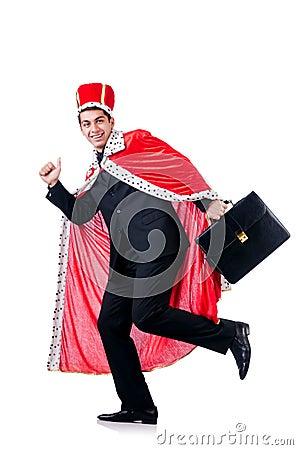 Homme d affaires jouant le roi