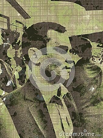 Homme dans la foule