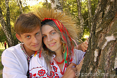 Homme et femme ukrainiens
