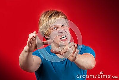Homme fâché