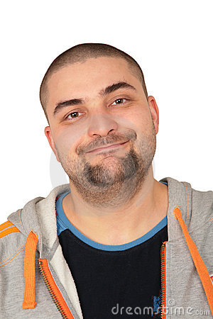 Homme gras de barbe