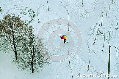 homme avec le parapluie color image libre de droits image 16734496 - Parapluie Color