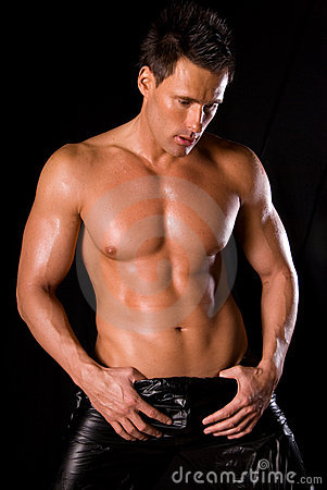 Homme musculaire sexy.