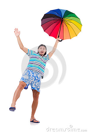 homme avec le parapluie color photo libre de droits image 16734435 - Parapluie Color