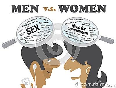 Hommes contre des femmes