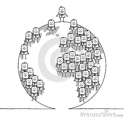 Hommes d affaires et monde