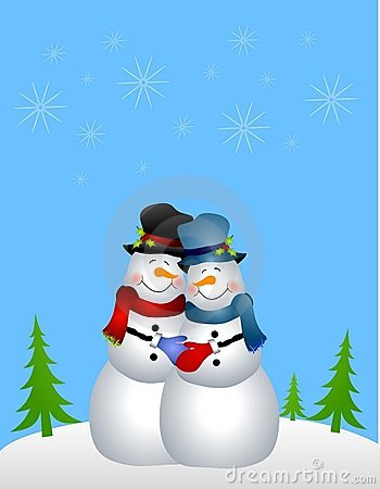 Homosexual Snowman Couple