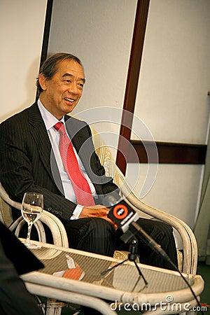 Hon Ronald Arculli, chairman Hong Kong Exchanges Editorial Stock Photo