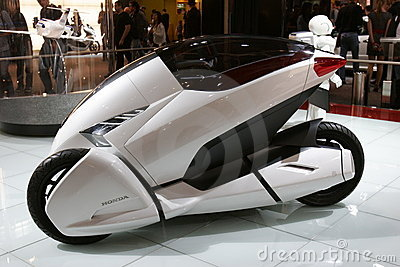Honda 3RC concept moto car Editorial Photo