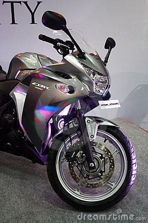 Honda CBR 250R Super Bike at Auto World Expo 2011 Editorial Stock Photo
