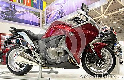 Honda motobikevfr Redaktionell Arkivfoto