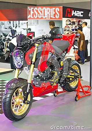 Honda Motorcycles on display.