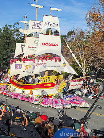 Honda s Ship of Dreams Parade Float Editorial Stock Photo