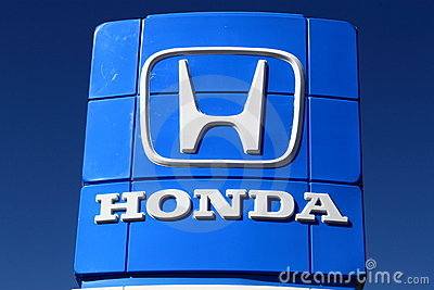 Honda Sign Editorial Stock Photo