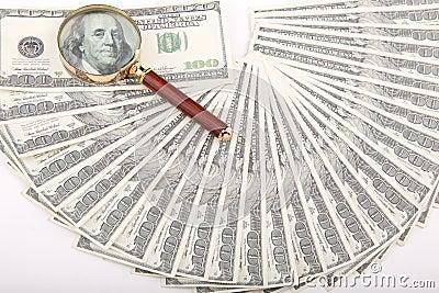 Honderd dollarspret en lijn en lijn