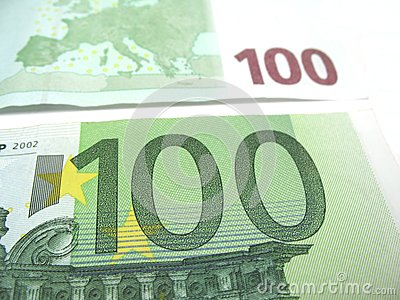 Honderd euro close-up