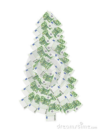 Honderd euro Kerstmisboom