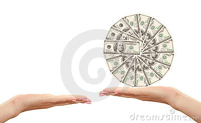 Honderd in hand dollars