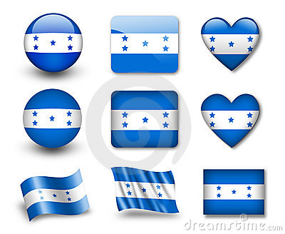 The Honduran flag