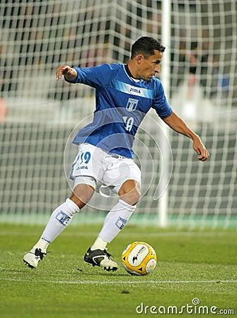 Honduran player Ivan Guerrero Editorial Stock Image