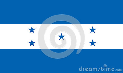 Honduras flag isolated vector in official colors and Proportion Vector Illustration