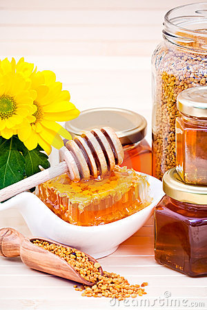 Free Honey And Pollen Royalty Free Stock Photos - 16190558